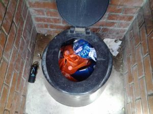 Toilets-used-as-solid-waste-sites